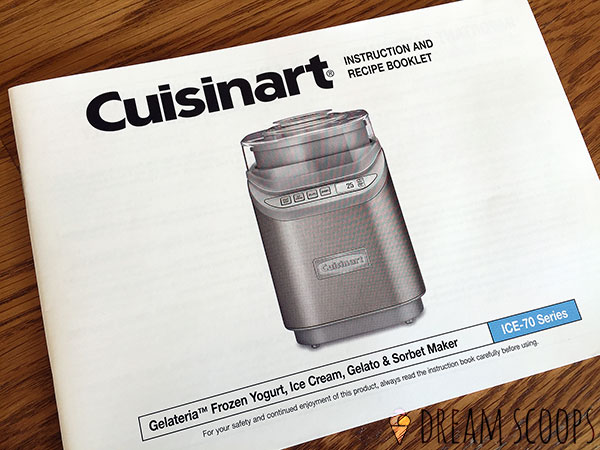 Cuisinart ICE-70 recipe booklet