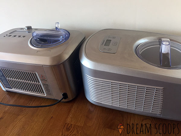 Breville Smart Scoop vs Cuisinart ICE-100 air vents