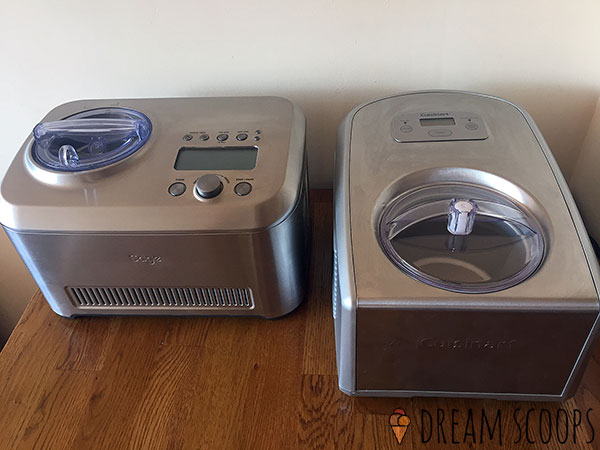 Breville Smart Scoop vs Cuisinart ICE-100 front on