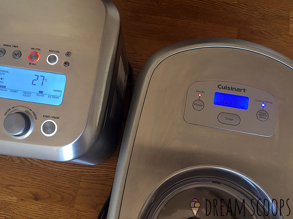 Breville Smart Scoop vs Cuisinart ICE-100 pre-cooling