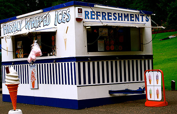 Cheap ice cream stall