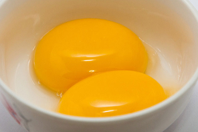 Egg yolks will stabilize ice cream