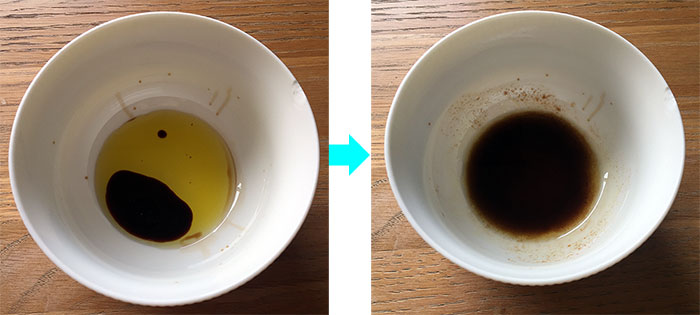 Oil and vinegar becomes an emulsion