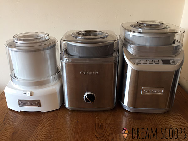 3 Cuisinart freezer bowl machines