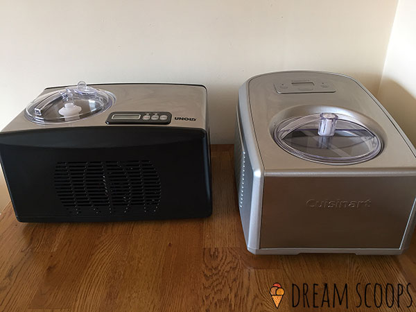 Cuisinart ICE-100 vs Whynter ICM-15LS from the front