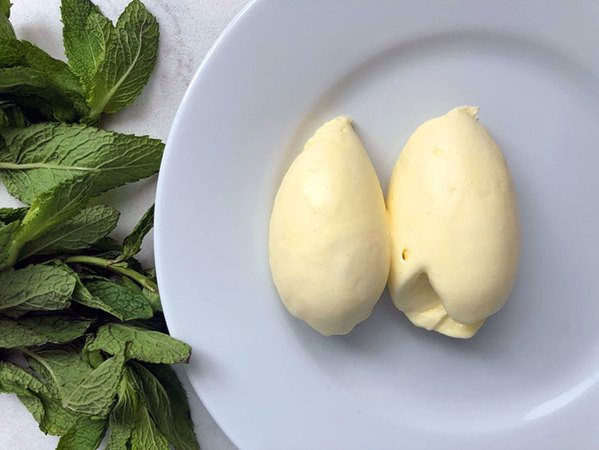 Mint and Lemon Balm Ice Cream