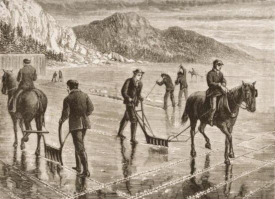Ice Harvest on the Hudson River c. 1870