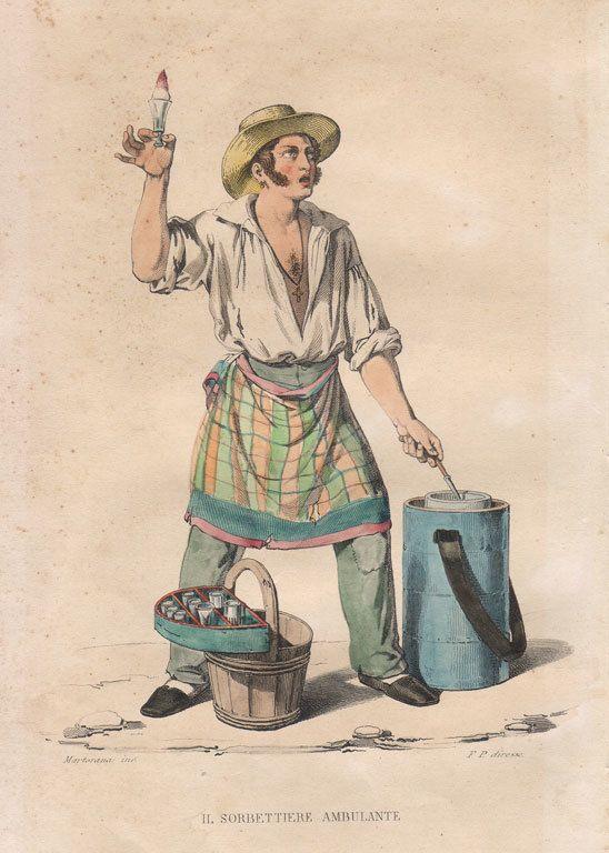 A Neapolitan sorbetto vendor